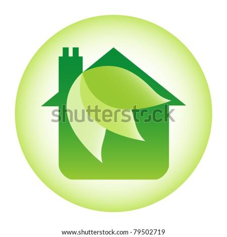 Eco friendly house design. - stock vector