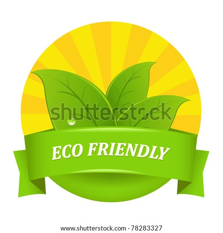 Eco Friendly Icon, Isolated On White Background, Vector Illustration - stock vector