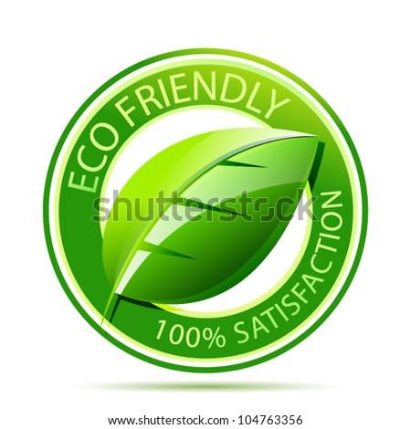 Eco friendly label - stock vector