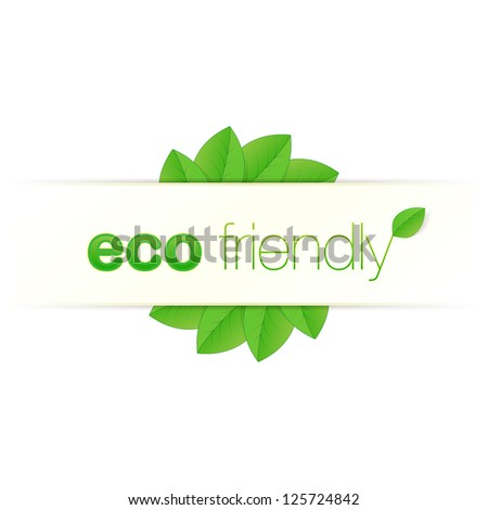 Eco friendly label design vector - stock vector