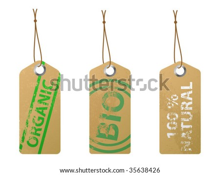 Eco Friendly Labels - stock vector