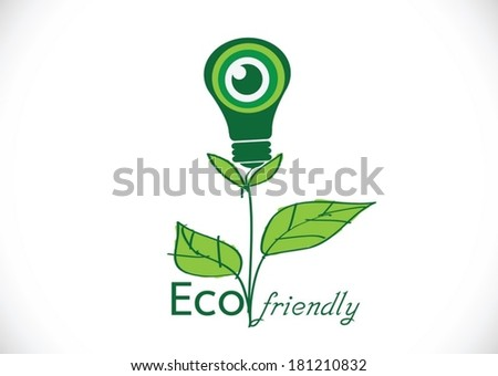 Eco friendly light bulb  plant growing green eco energy concept