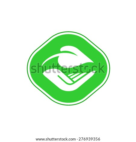 Eco friendly product green label  - stock vector