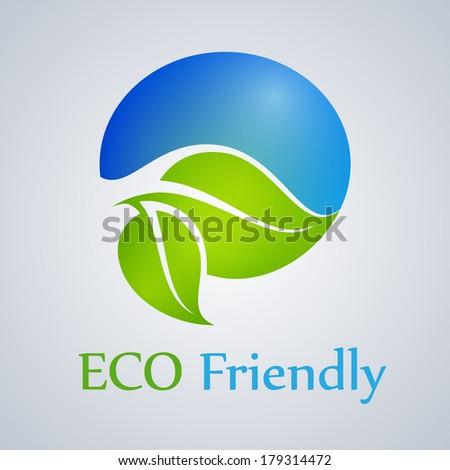 Eco friendly product, green, organic, icon, vector. - stock vector