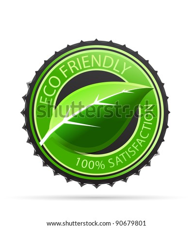 Eco friendly tag - stock vector