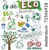 Eco friendly vector set - stock photo
