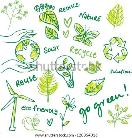 Eco friendly vector set - stock vector