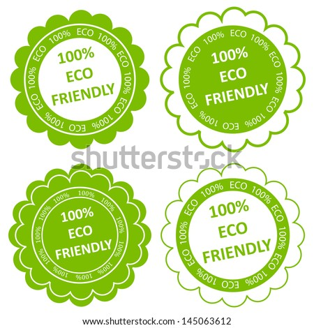 Eco friendly vector stamp or label ecology background concept