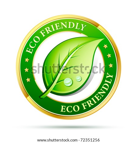 eco friendly website icon - stock vector