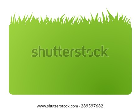 eco green banner business card. Vector illustration. Isolated in white - stock vector