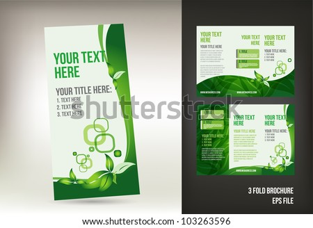 Eco green brochure template - stock vector