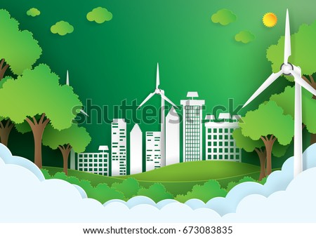 Eco green citysave world environment concepturban stock for Landscape design paper