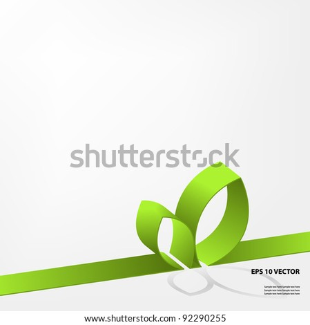 Eco green design. - stock vector