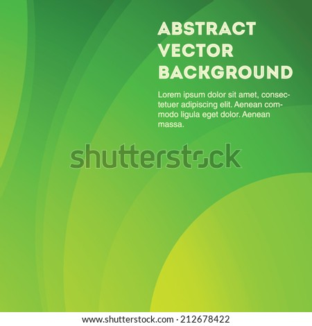 Eco green gradient vector background curves. Editable eps 10 illustration.  - stock vector