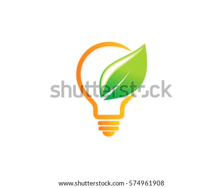 Eco Green Light Bulb Logo