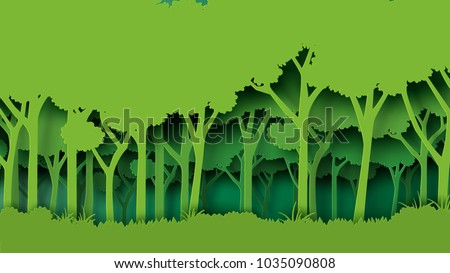 eco green nature forest background template forest stock vector