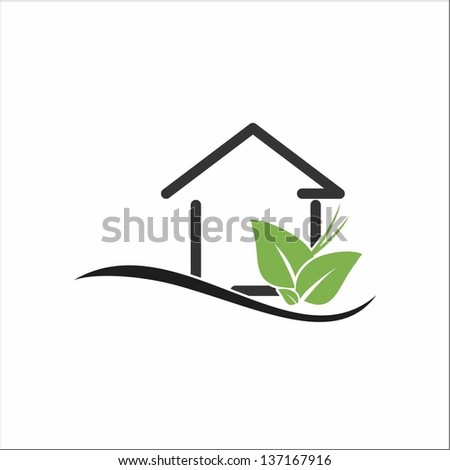Eco house - stock vector