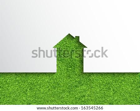 Eco house concept  - stock vector