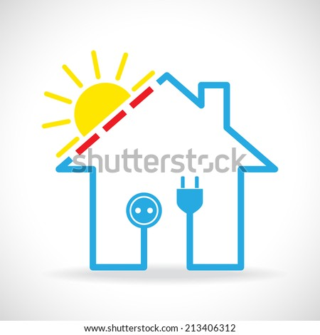 Eco house icon - stock vector