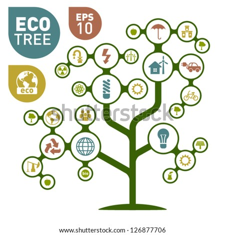 Eco Icon Tree Concept