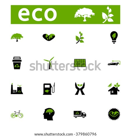 ECO icons collection - vector stock