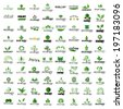 Eco Icons Set - Isolated On White Background - Vector Illustration, Graphic Design Editable For Your Design
