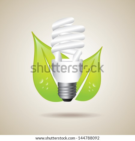 eco idea over gray background vector illustration