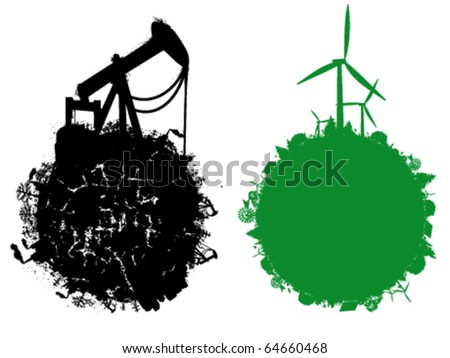 Eco illustration - stock vector