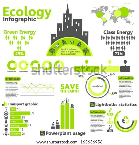 Eco infographic - stock vector