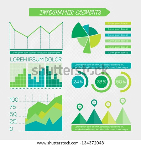 Eco infographic elements set. Design elements for business presentation. Vector illustration