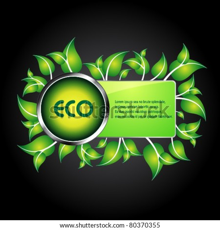 eco information icon / logo for web - stock vector