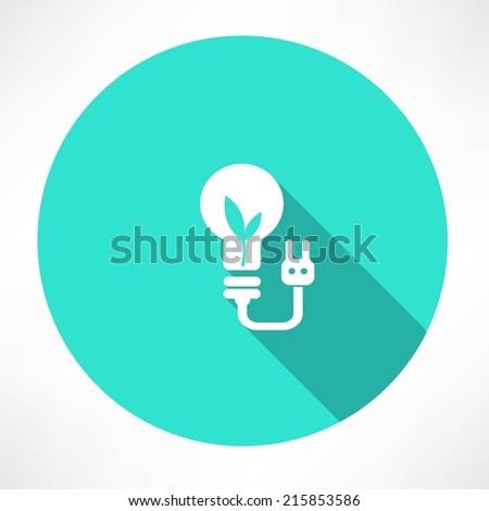 eco lamp icon - stock vector