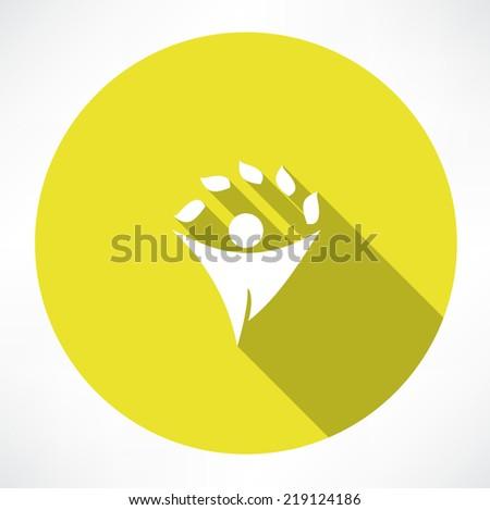 eco men icons - stock vector