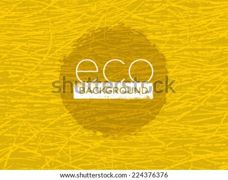 Eco Organic Bright Vector Background With Outstanding Grass Texture - stock vector
