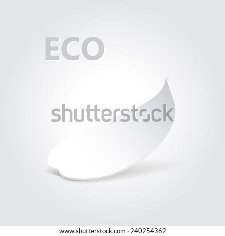 Eco origami leaf concept.  Vector illustration, - stock vector