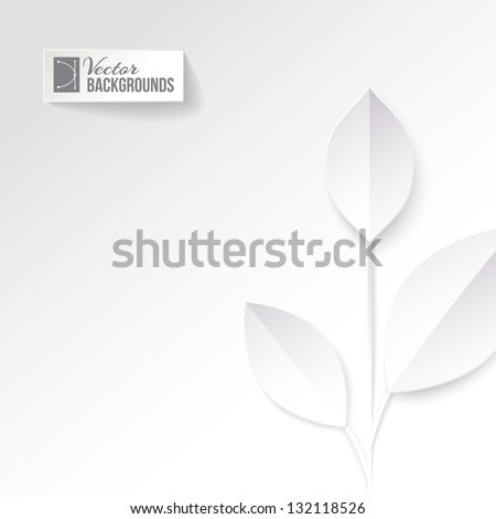 Eco origami leaf. Vector illustration, contains transparencies, gradients and effects. - stock vector