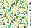 eco pattern - stock vector