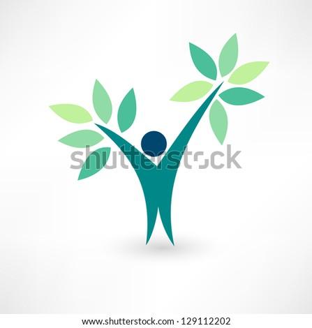 Eco people - stock vector