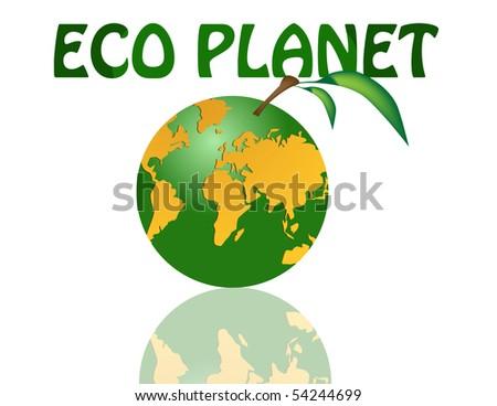 eco planet - stock vector