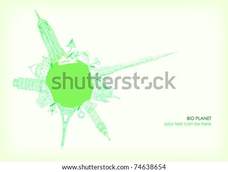 Eco Planet (vector) - stock vector