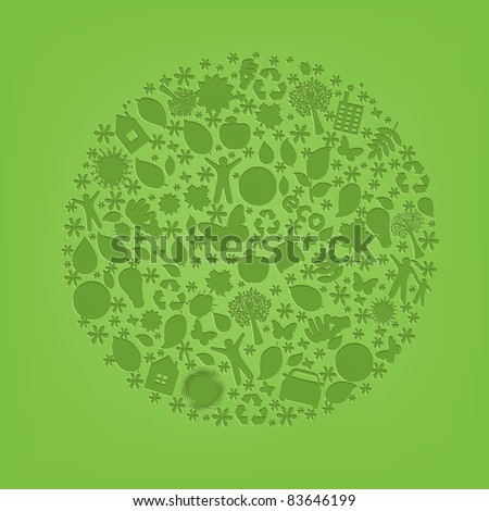 Eco Planet, Vector Illustration - stock vector