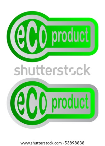 eco product sticker - stock vector