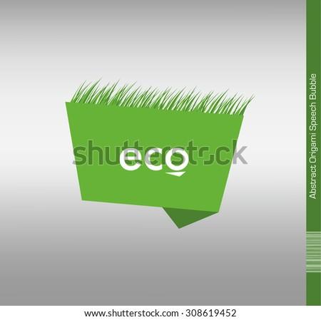 Eco Speech Bubble Illustration - stock vector