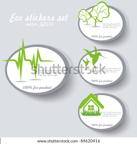 Eco sticker collection