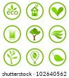 Eco symbols collection. Vector illustration - stock photo