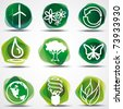 Eco Symbols Set. - stock vector