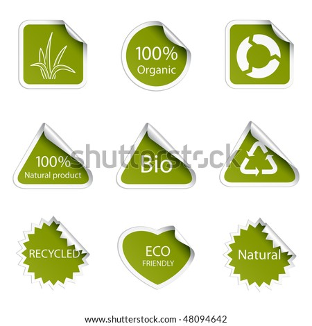 Eco tags - stock vector