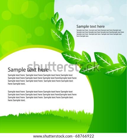 eco template - stock vector