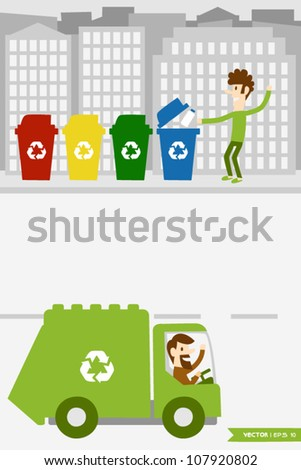 Eco Town (3) - stock vector