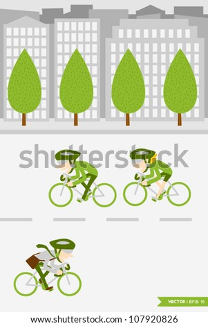 Eco Town (2) - stock vector